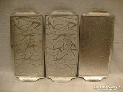 3 db figurás alumínium tálca