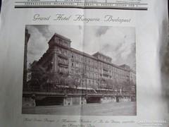 GRAND HOTEL HUNGARIA BUDAPEST RELIKVIA 1928 REKLÁM Magyar Sz