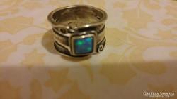 Opál köves izraeli kézműves gyűrű 1.
