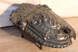 Nagyon régi antik öntöttvas széntartó!