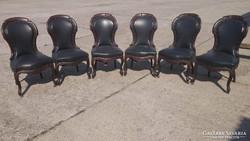 Antik barokk bőr székek!