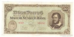 20 pengő 1926. Nagyon ritka.