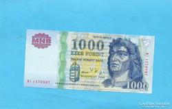 Hajtatlan  !!!!  Unc !!!! 1000 Forint 2005 DC !!! Zöld