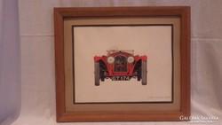 Mandel Tamás Alfa Romeo 2,3 Lit Oldsmobil rajz