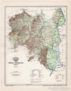 Tolna vármegye térkép 1897, antik, eredeti