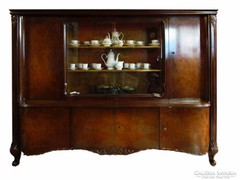 Barokk vitrines tálaló szekrény