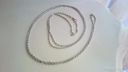 Ezüst,antik, hosszú lornyon vagy zsebóralánc 156 cm!!