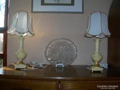 Olasz barokk alabástrom lámpa párban