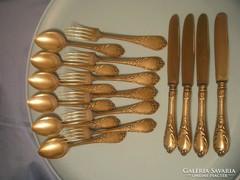 16 db-os antik barokk evőeszköz készlet U9