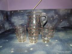Üveg Boros kancsó poharakkal
