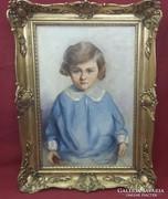 Szokol Vilibáld: Kislány portréja
