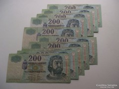10 db 200 Forintos bankjegy eladó!