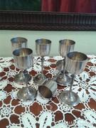 Antik ezüst poharak 6 darab
