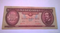 1957-es ropogós,100 forintos ritkább bankjegy!