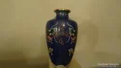 Rekeszzománc  cloisonné váza különleges sárkányos