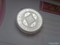 Széchenyi könyvtár ezüst 3000 Ritka 31,46 gramm 0,925