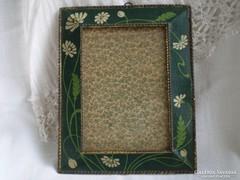 Antik asztali fém fényképkeret
