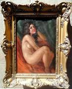 Akt festmeny eredeti keretben