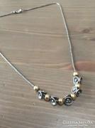 Régi izraeli Beit Nir ezüst nyaklánc aranyozott gömbökkel