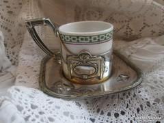 Antik ARGENTOR ezüstözött pohártartó