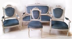 6 részes barokk szalon ülőgarnitúra asztallal
