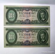 10 Forint 1949 Sorszámkövető 2 db