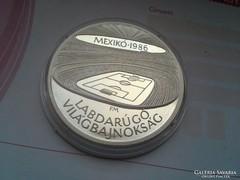 1986 Mexico VB stadion 28 gramm ezüst 500 PP gyönyörű