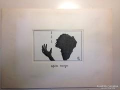 Hegyi Füstös László (Ludas Matyi): Afrika szomjas karikatúra