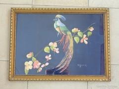 Olaj festmény -selyemre