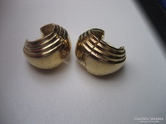Sterling ezüst aranyozott karika fülbevaló