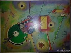 Gyönyörü Kandinsky stilusban festett olaj-farost,szignozott