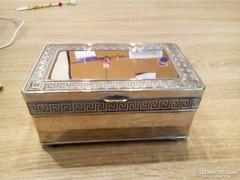 Ezüstözött ékszer tartó doboz eladó