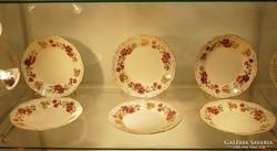 Zsolnay 6 személyes süteményes garnitúra. Jelzett!