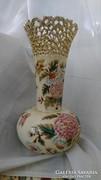 Zsolnay antik váza 31 cm áttört mintás