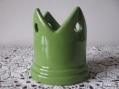 Zöld kerámia gyertyatartó