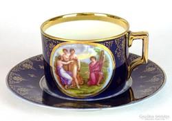 0I216 Antik Altwien porcelán teáscsésze
