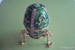 Fabergé tojás, nyitható, mellékelve az eredeti leírása,