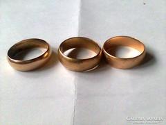 Arany karikagyűrűk 3db.