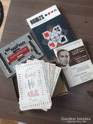 Régi amerikai 1950 Autobridge játék könyvekkel