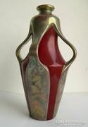 Exkluzív! Zsolnay négyfülű eozin váza