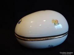 Régi nagy Hollóházi porcelán tojás bonbonier