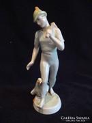 Drasche Lúdas Matyi porcelán szobor