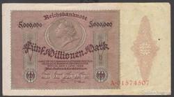 1923. Reichsbanknote, 5 millió márka