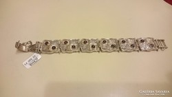 ZOHAR Izraeli ezüst karkötő gránátkővekkel 925.