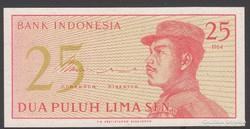 1964. Indonézia, 25 Sen.