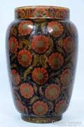Körpecsétes Zsolnay többszínű eozin virágos váza