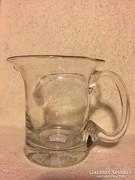 Üveg kiöntő, nagy pohár (5)