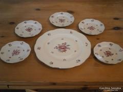5 személyes herendi porcelán süteményes készlet 1941,1943