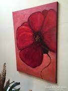 Gyönyörű festmény közvetlenül művésztől_Forróság (pipacs)