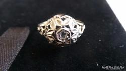 Ezüst Antik gyémánt gyűrű 1,9 gramm